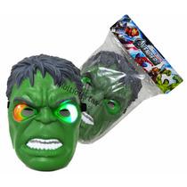 Mascara Incrivel Hulk Iluminada Brinquedo P Crianças/adultos