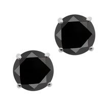 Pendientes De Plata Esterlina Diamante Negro