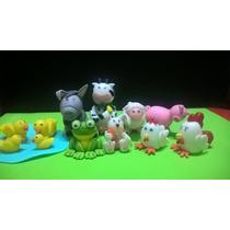 Adorno Torta Animales De Granja Porcelana Fría