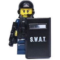 Genial Fig Sw11 Elemento Swat Antimotin Compatible Con Lego
