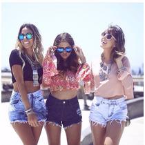 Shorts Jeans Cos Alto Cintura Alta