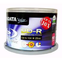 50 Midia Blu Ray Virgem Ridata Bd-r 25 Gb/ 10x Printable