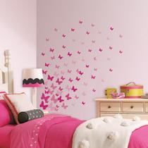 Calcomanias Mariposas Rosas P Decorar Pared - Blakhelmet Nsp