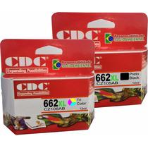 Kit C/ 10 Cartucho Hp 662 Xl Preto + 10 662xl Colorido