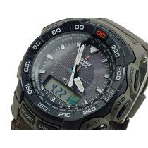 Reloj Casio Protrek Prg550b-5 Solar Triple Sensor 5 Alarmas