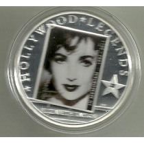 Moneda Isla Cook 2011 Leyenda De Hollywood Elizabeth Taylor