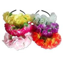 Vincha Flores Corona - Casamientos Cumple Cotillon X 5unid