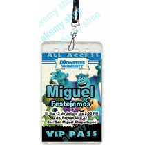 Monster University 12 Gafete Vip Invitacion Fiesta