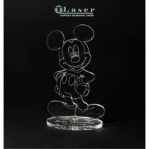 Souvenir Acrílico Cumpleaños Mickey, Minnie, Sapo Pepe