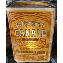Lata Antigua Bizcochos Canale (cartón) De 750 Gms. 18150