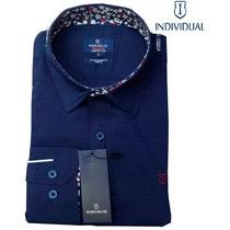 Camisa Social Individual Azul Clara - Slim Fit