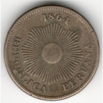 Moneda Peru 1 Centavo (1864) Sol