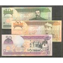 Coleccion De 3 Billetes De La Republica Dominicana