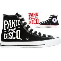 Tênis Panic At The Disco All Star Converse Personalizado