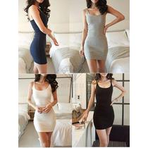 Moda Asiática Vestido Corto Toda Ocasión Tallas (s-xl)