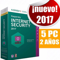 Licencia Kaspersky Internet Security 2017 5pc 2años Original