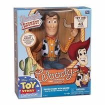 Toy Story Réplica Boneco Xerife Woody Roundup 40 Cm Com Fala