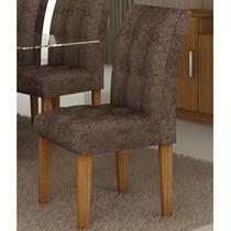 Conjunto De 2 Cadeiras Bellagio Castanho/marrom - Cel Móveis