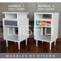 Mesa De Luz Moderna Minimalista Luisfili C/s Vinilos A Elecc