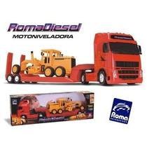 Caminhão Roma Diesel E Trator Motoniveladora 1302 - Roma...