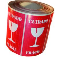 Etiqueta Selo Fragil Taça Transportemercadorias - 250 Uni