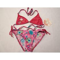 Traje De Baño Bikini Para Niña Hello Kitty 6 Y 10 Años