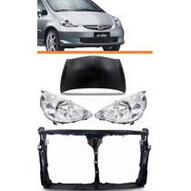 Kit Honda Fit 2004 05 06 07 08 Capo+farol+painel Frontal