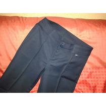 Pantalón Escolar Elasticado Cacao Azul Marino, Talla 14