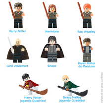Kit C/ 8 Bonecos Harry Potter Malfoy Snape Compatível Lego