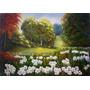 Quadro, Pintura Em Tela - Paisagem Campo De Flores Xv