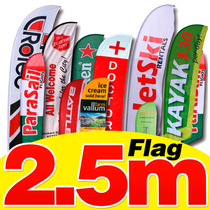 Flag Banner 2.5m Diseño+estructura+impresión Sublimación