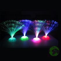 Abajur Luz Fibra Optica Luminarias De Mesa Enfeite Decoracao