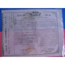 Bono Del Tesoro Nacional, Águila Juarista , 1863, 10 Pesos.