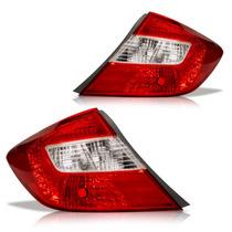 Lanterna Traseira Honda Civic 2012 2013 Canto Bicolor