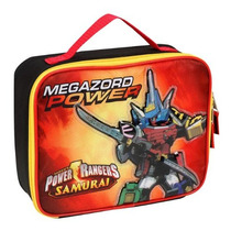 Power Rangers Samurai Megazord Almuerzo Caso Aislado - Negr