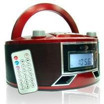 Reproductor De Música Portatil Mp3 Usb Sd Fm A Bateria