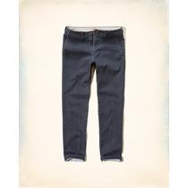 Calça Jeans Hollister Skinny Zipper Fly Chinos 40br Masculin
