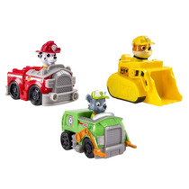 Patrulla Canina 3pk Vehicle Marshal Rubble Rocky