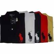 Kit 6 Camisas Polo Tamanho Grande Plus Size Esp Xl G1 G2 G3
