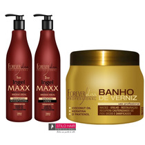 Ingel Maxx Escova Progressiva + Trat° Banho De Verniz 250g