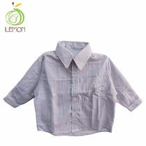 Camisa Manga Tres Cuartos Para Niños - Lemon C2-00015