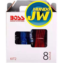 Kit De Cables 8 Gauges Boss Para Potencias Hasta 2500w