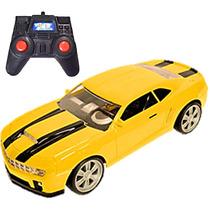 Carrinho Controle Remoto Barato Original Camaro Amarelo 1:22