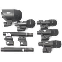 Kit Microfone Para Bateria 7 Pcs Dms7 Skp