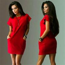 Vestido Vermelho, Estilo Camisa.