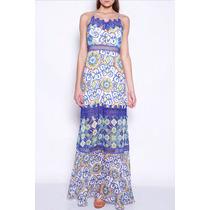 Vestido Longo Colcci Azulejo Floral