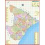 Mapa Político E Rodoviário Estado De Sergipe - Frete Grátis