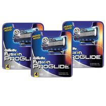 Carga Gillette Proglide Fusion Com 12 Unidades