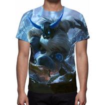 Camisa, Camiseta League Of Legends - Olaf Glacial