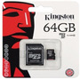 Memoria Kingston Micro Sd Hc 64gb Clase 10 Full Hd Original